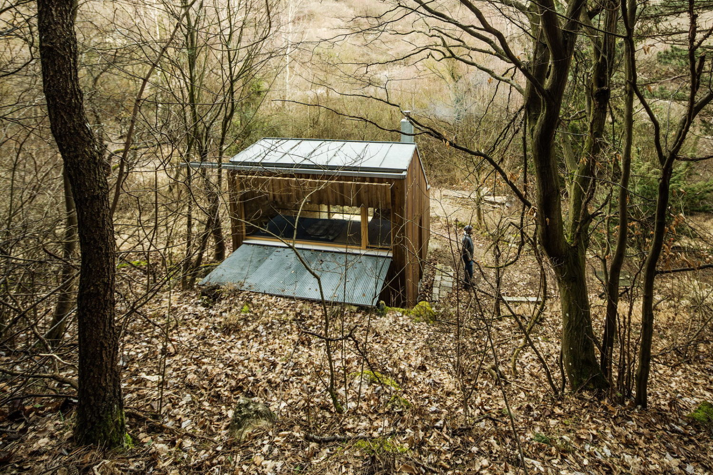 Wooden Hut by Heike Schlauch