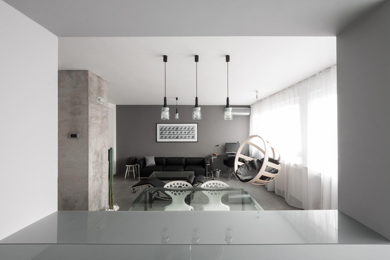 Gray Scale Apartment by Arhitektura Budjevac