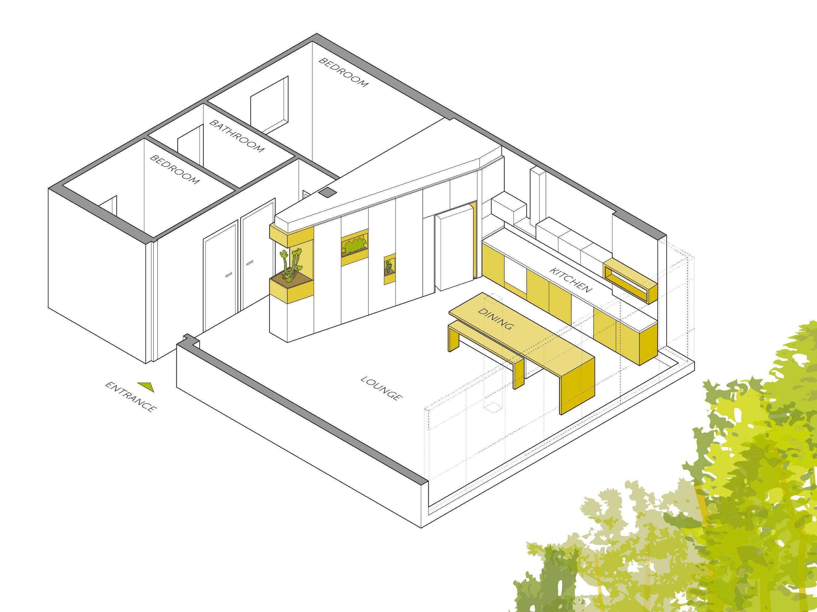 Renovated Apartment in Ramat Gan by Itai Palti