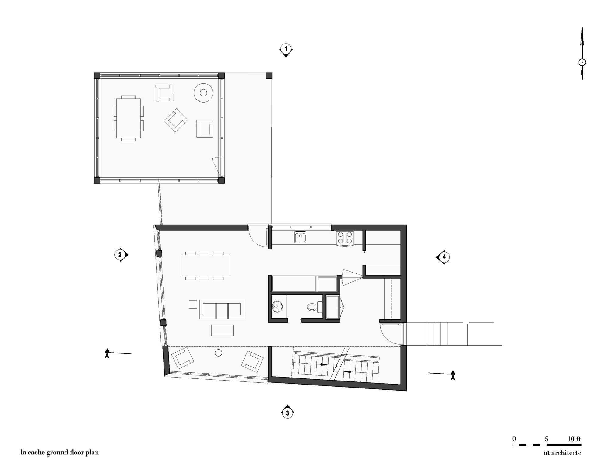 La Cache   Forest house by Nathalie Thibodeau Architecte