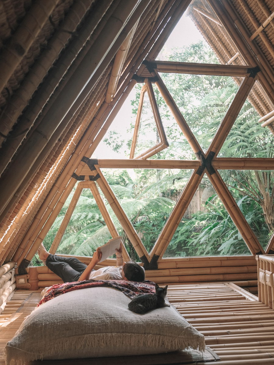 Hideout Bali Eco Bamboo Home Cabins In Bali Wowow Home