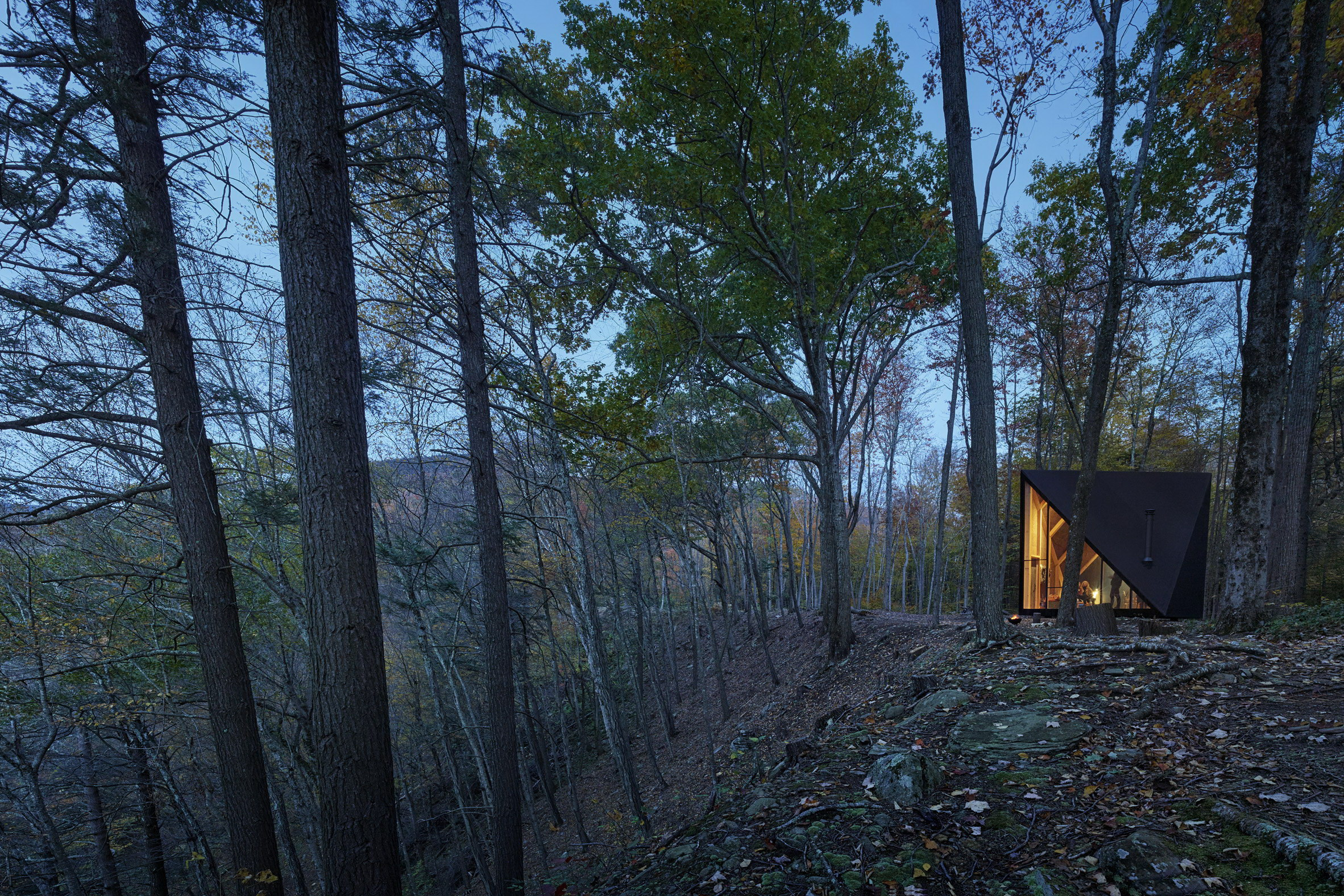 A45 | Tiny Triangular Cabin in New York by BIG