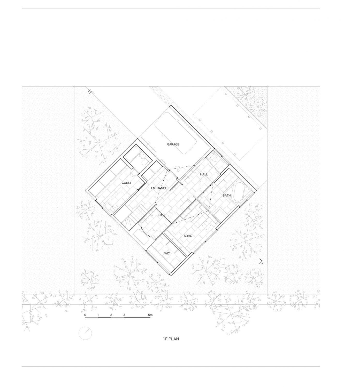 Kame House | House with a Hexagonal Void