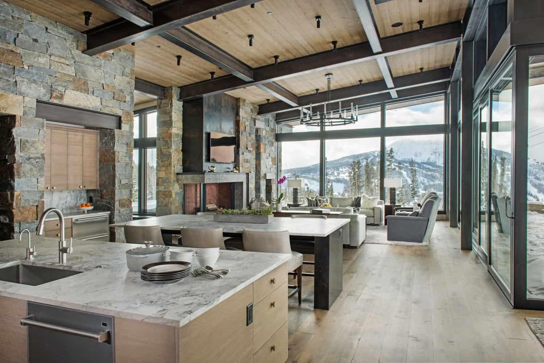 Mountain Peek Modern Rustic Home In Montana 28 Wowow