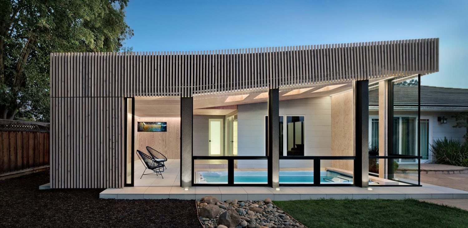 Silicon Valley Poolhouse   Modern Extension to Traditional Home