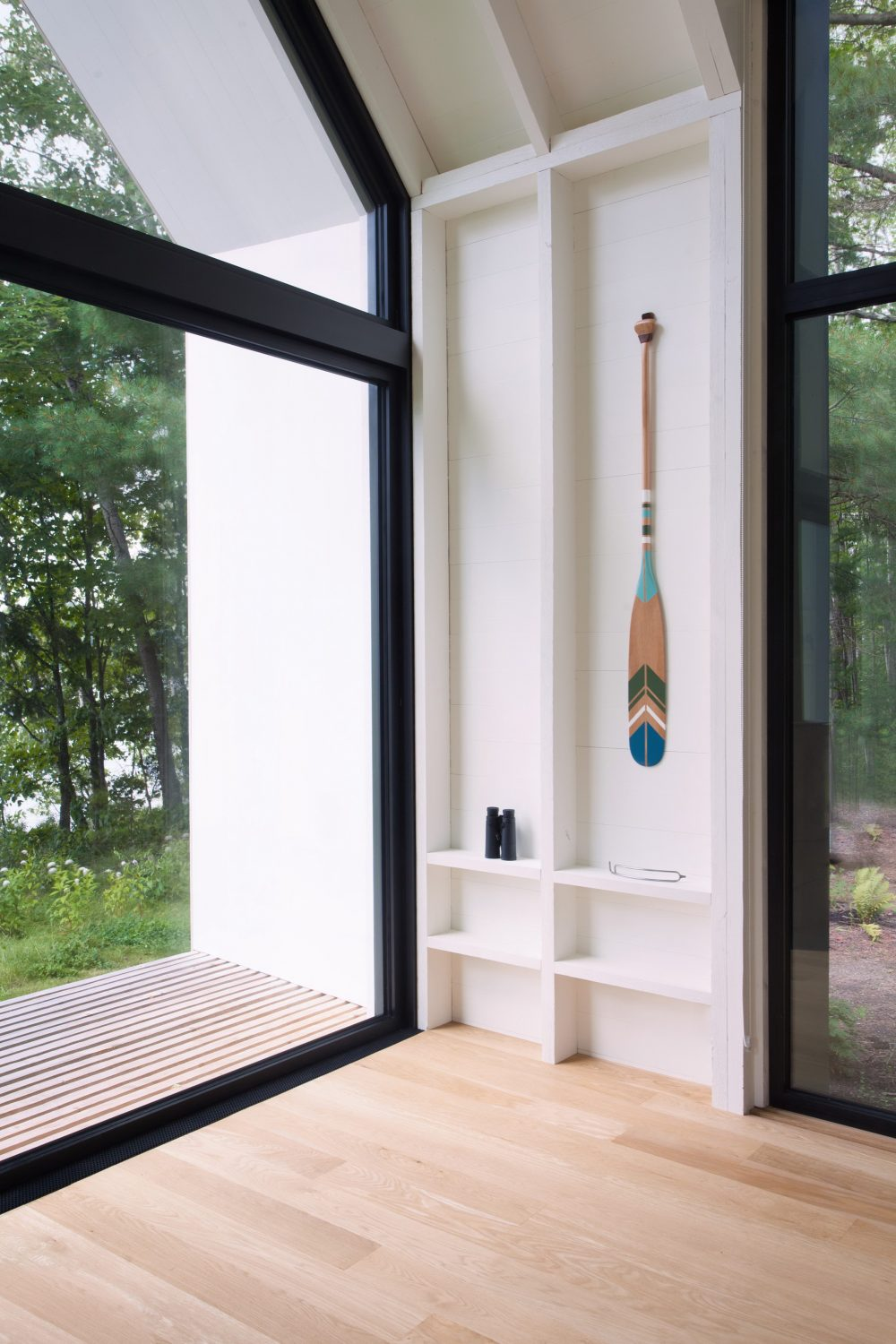 Window on the Lake | White Wooden Cottage by YH2
