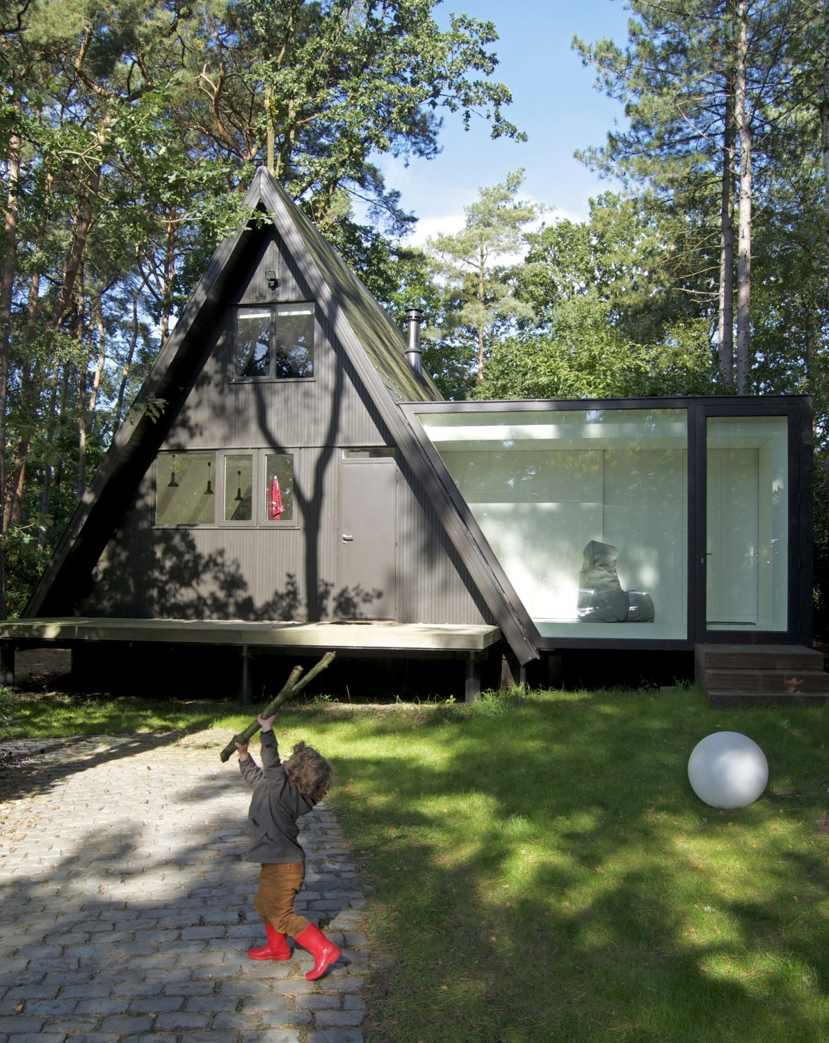 Black A-Frame House Renovation and Extension by dmvA