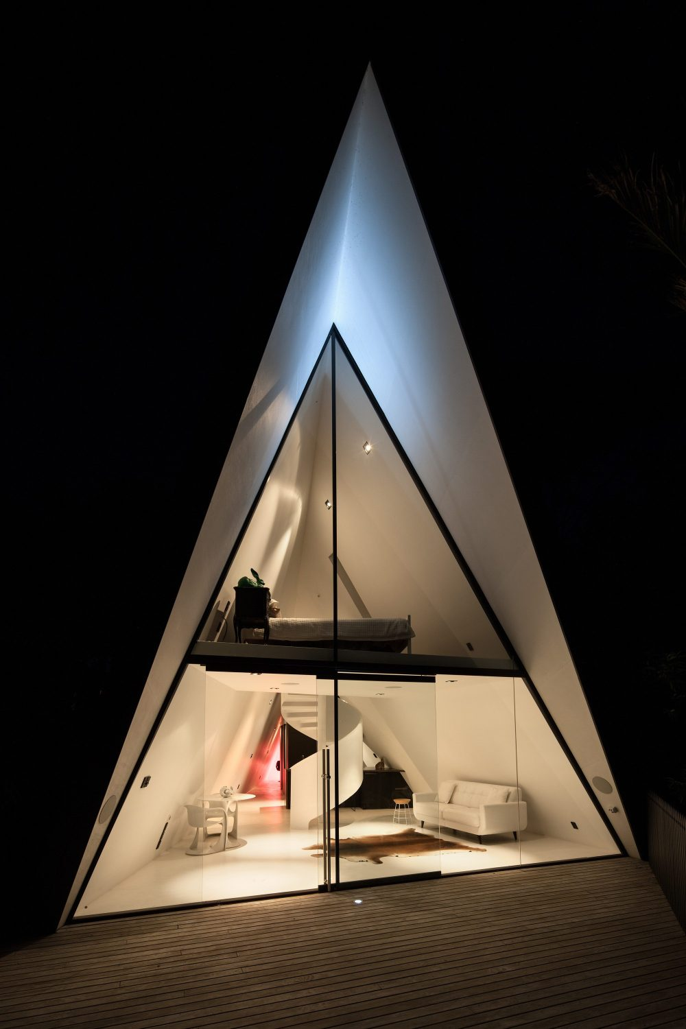 Tent House | A-Frame Cabin by Chris Tate
