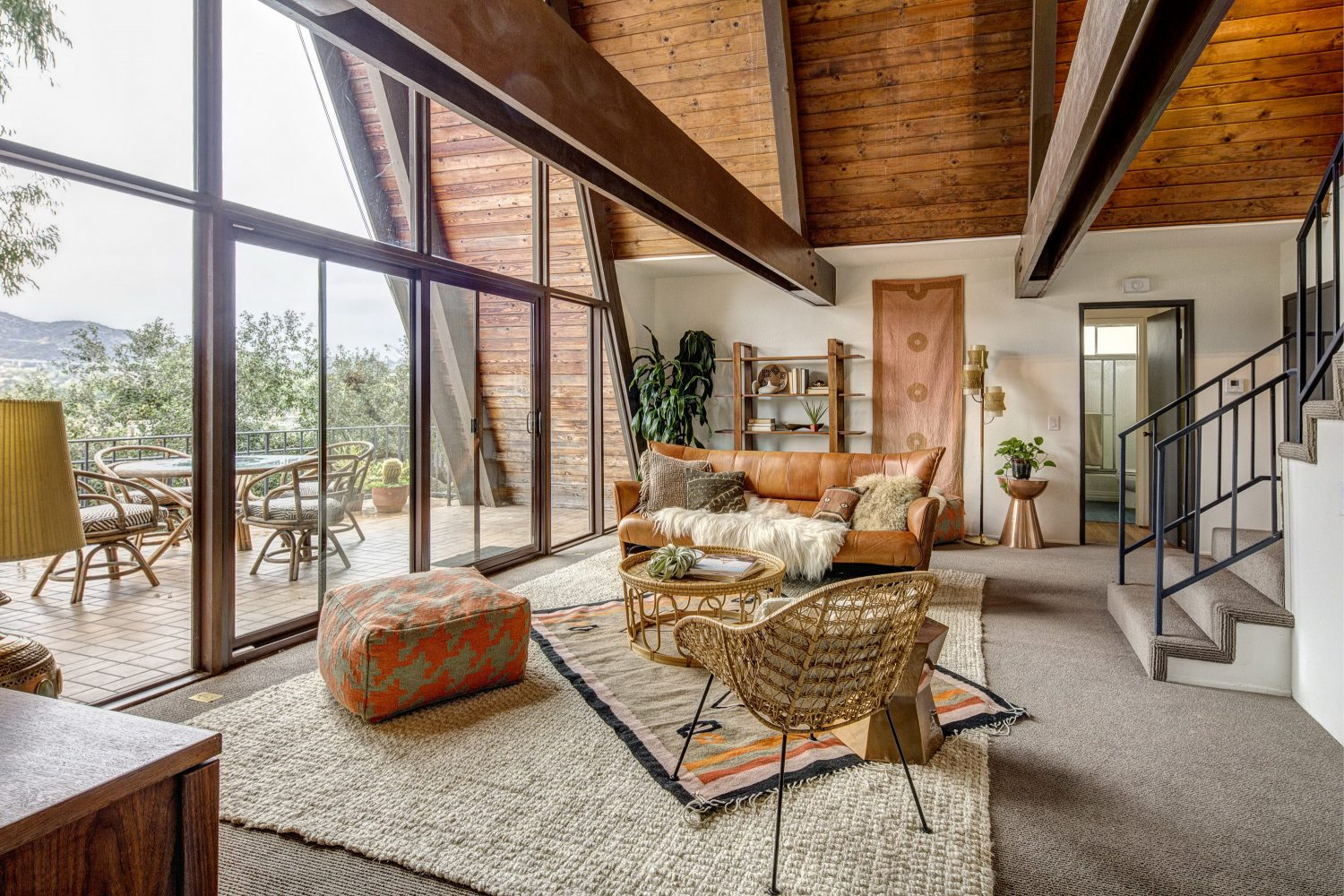 A Modified Mid-Century A-Frame in Los Angeles