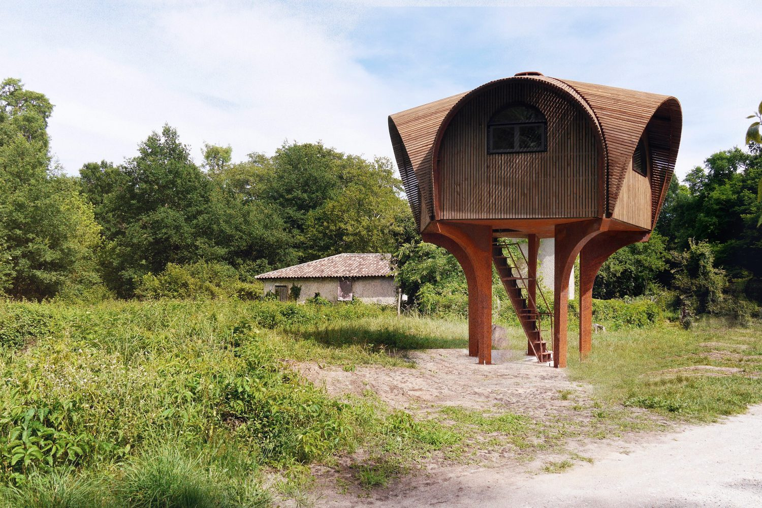 Le Haut Perché | Hiking Shelter by Studio Weave