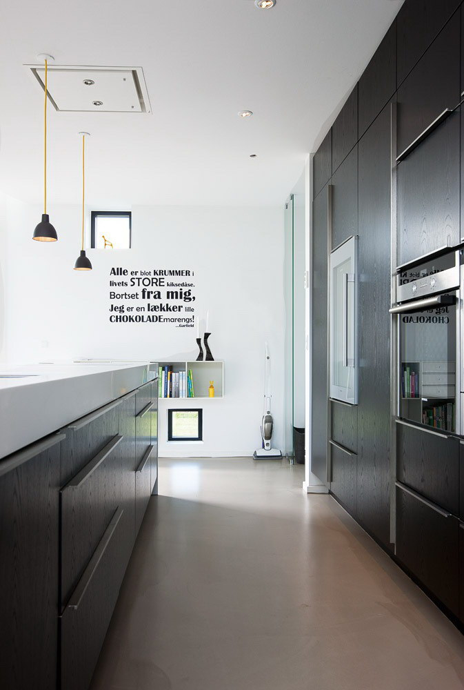 Modern Triangular Home with Black Exterior