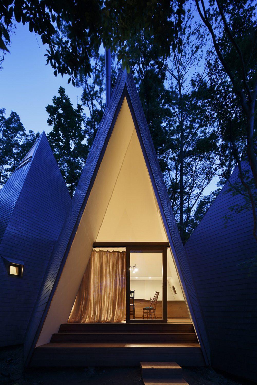 Nasu Tepee | A Tipi-Shaped House by Hiroshi Nakamura & NAP