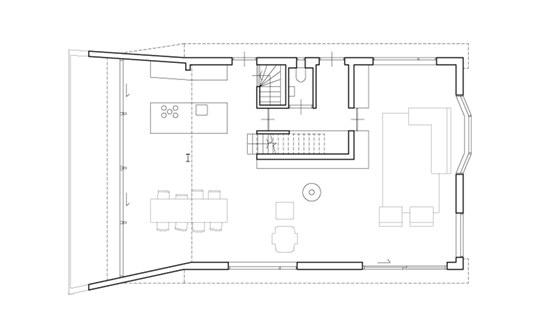SH House | A-frame House Extension by Atelier van WENGERDEN