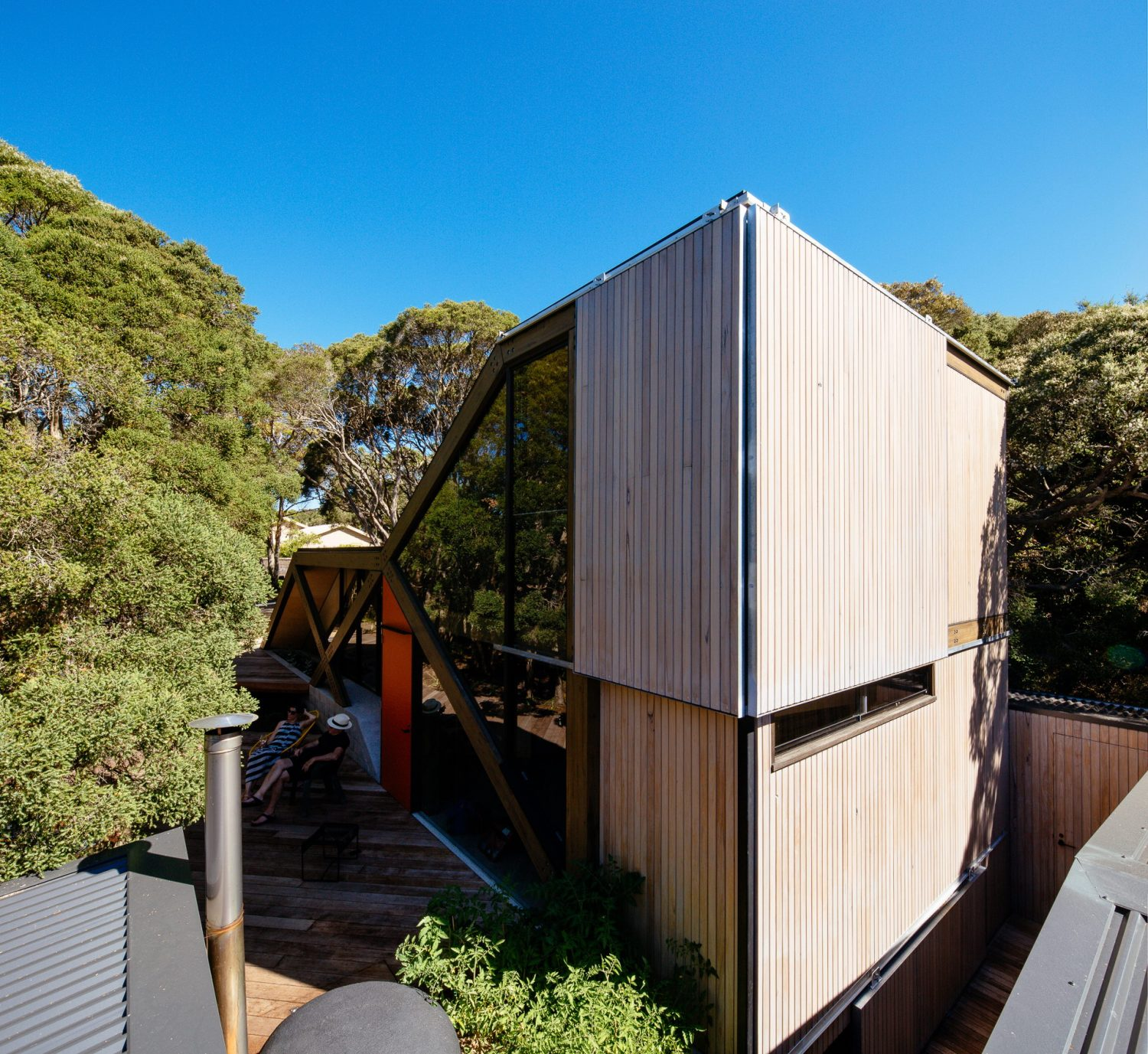 Cabin 2 – Extension of a 1960s Log Cabin by Maddison Architects