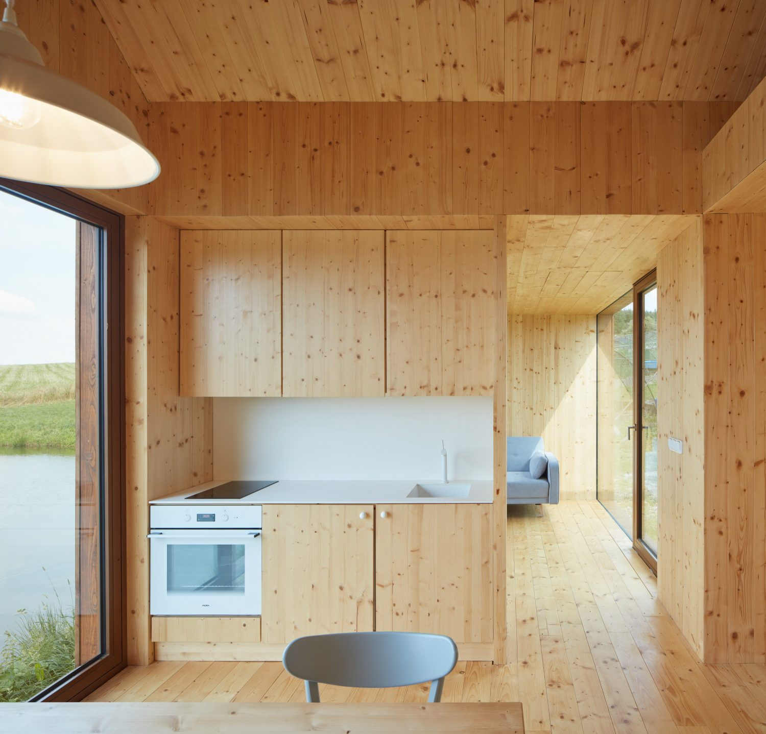 Cottage Near a Pond by Atelier 111 Architekti