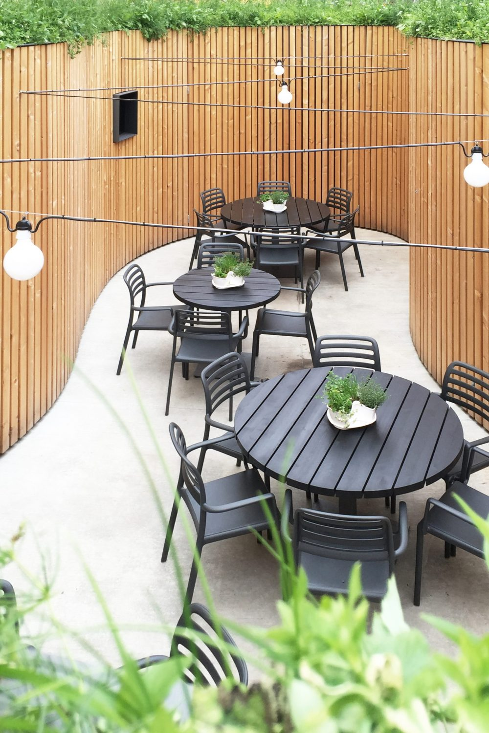 Garden Patio of the Peppino Restaurant by Atelier 111 Architekti