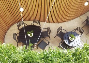 Garden Patio of the Peppino Restaurant by Atelier 111 Architekti