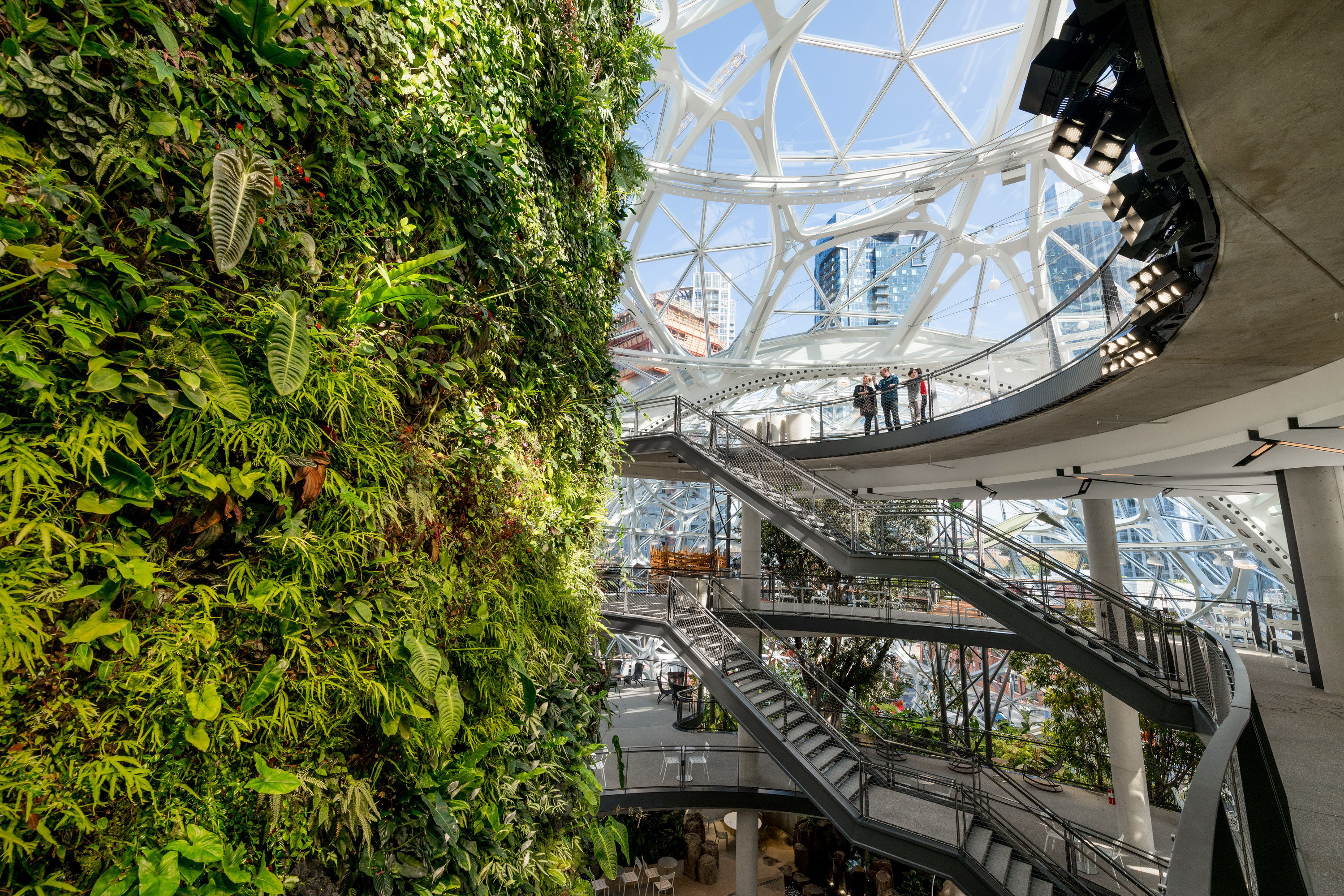 The Spheres in the New Amazon Headquarters   Wowow Home ...
