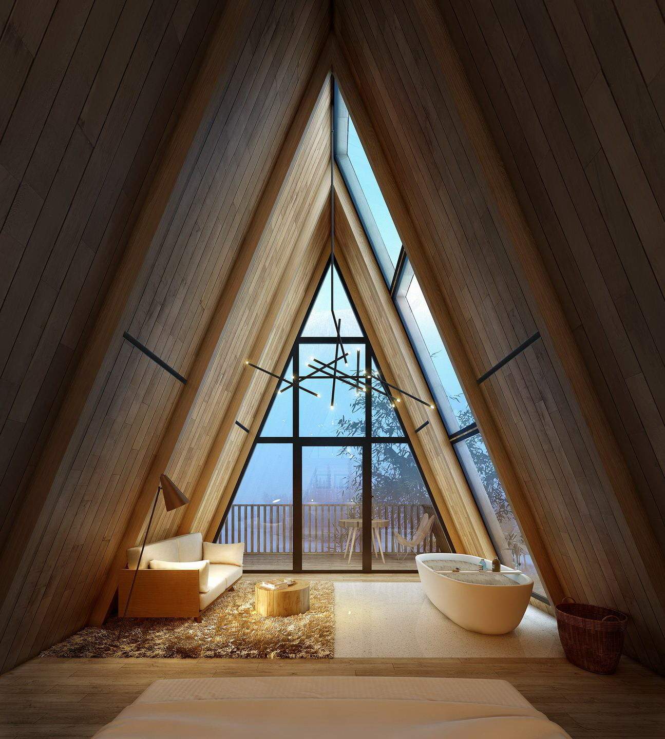 Treewow Tribe – A-Frame Tree Houses by Monoarchi