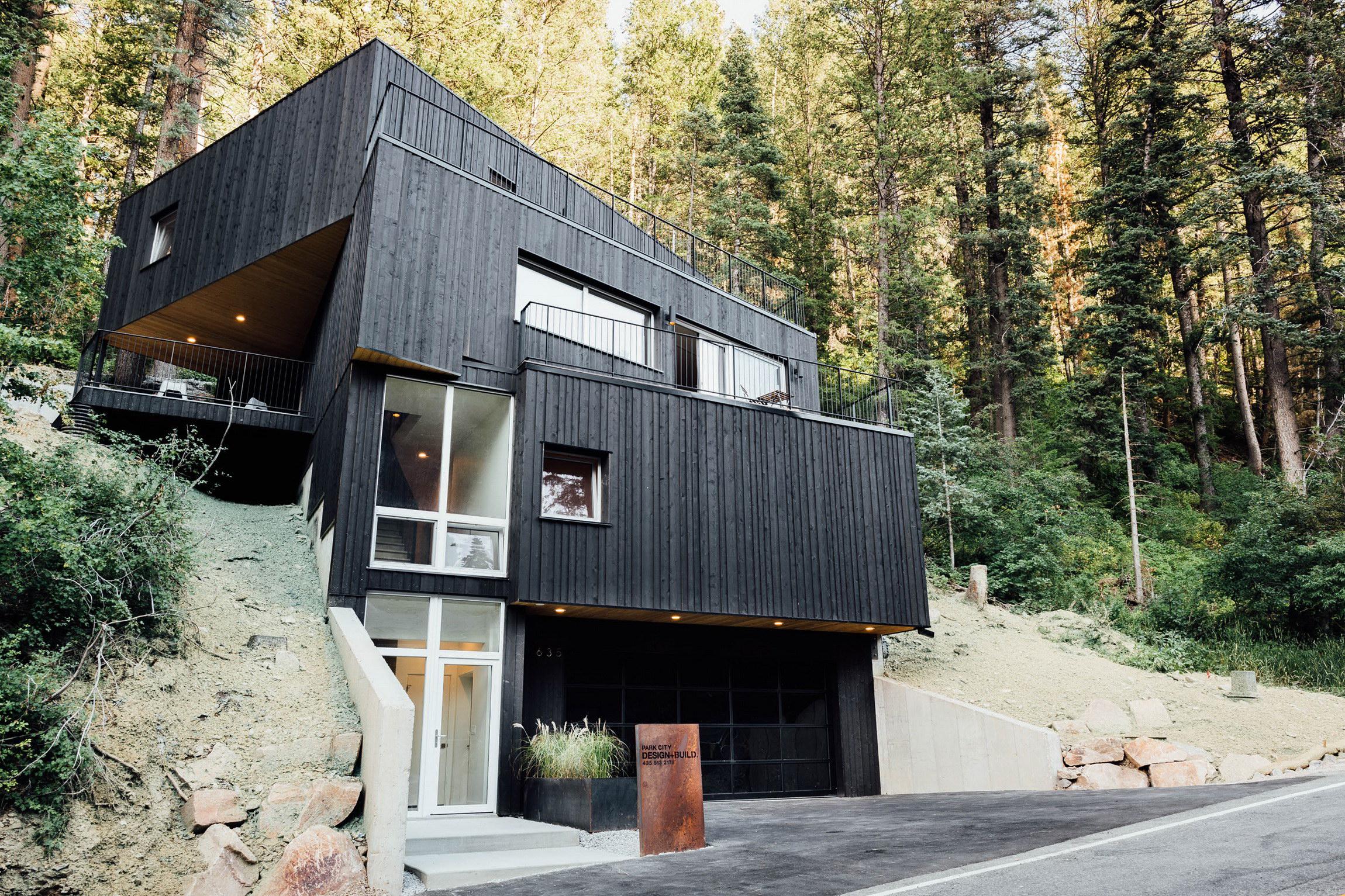 Black Treehaus by Park City Design+Build