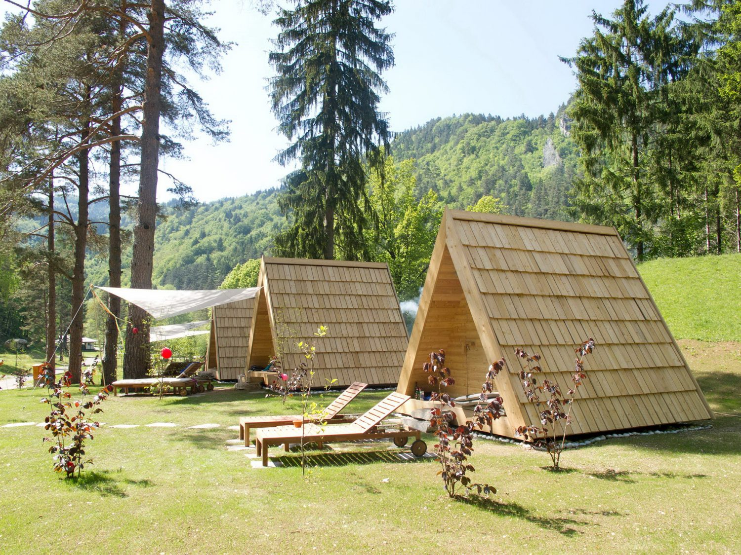 Glamping Cabins – Tiny A-Frame Cabins by Lushna