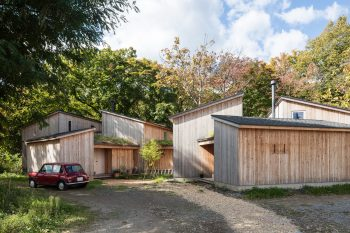 House in Tokiwa – Timber-Clad Cabins by Makoto Suzuki