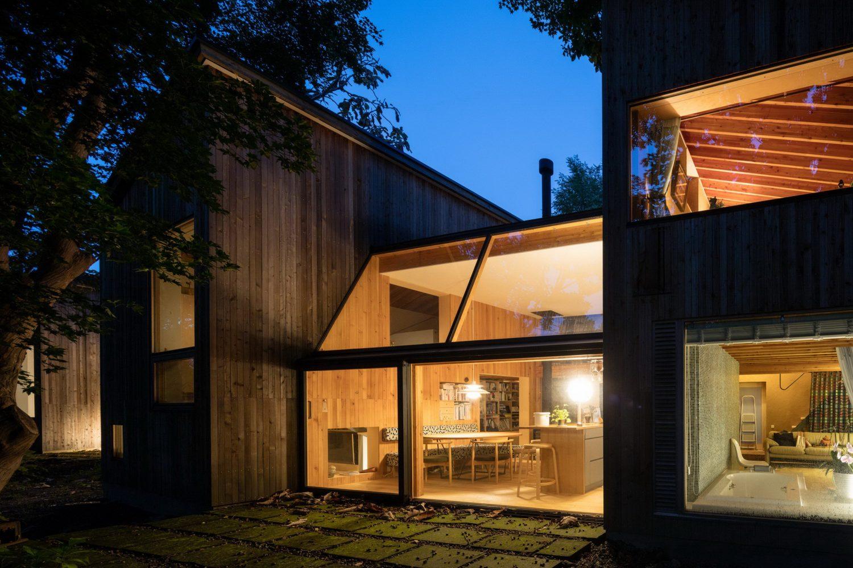 House in Tokiwa – Timber-Clad Cabins by Makoto Suzuki