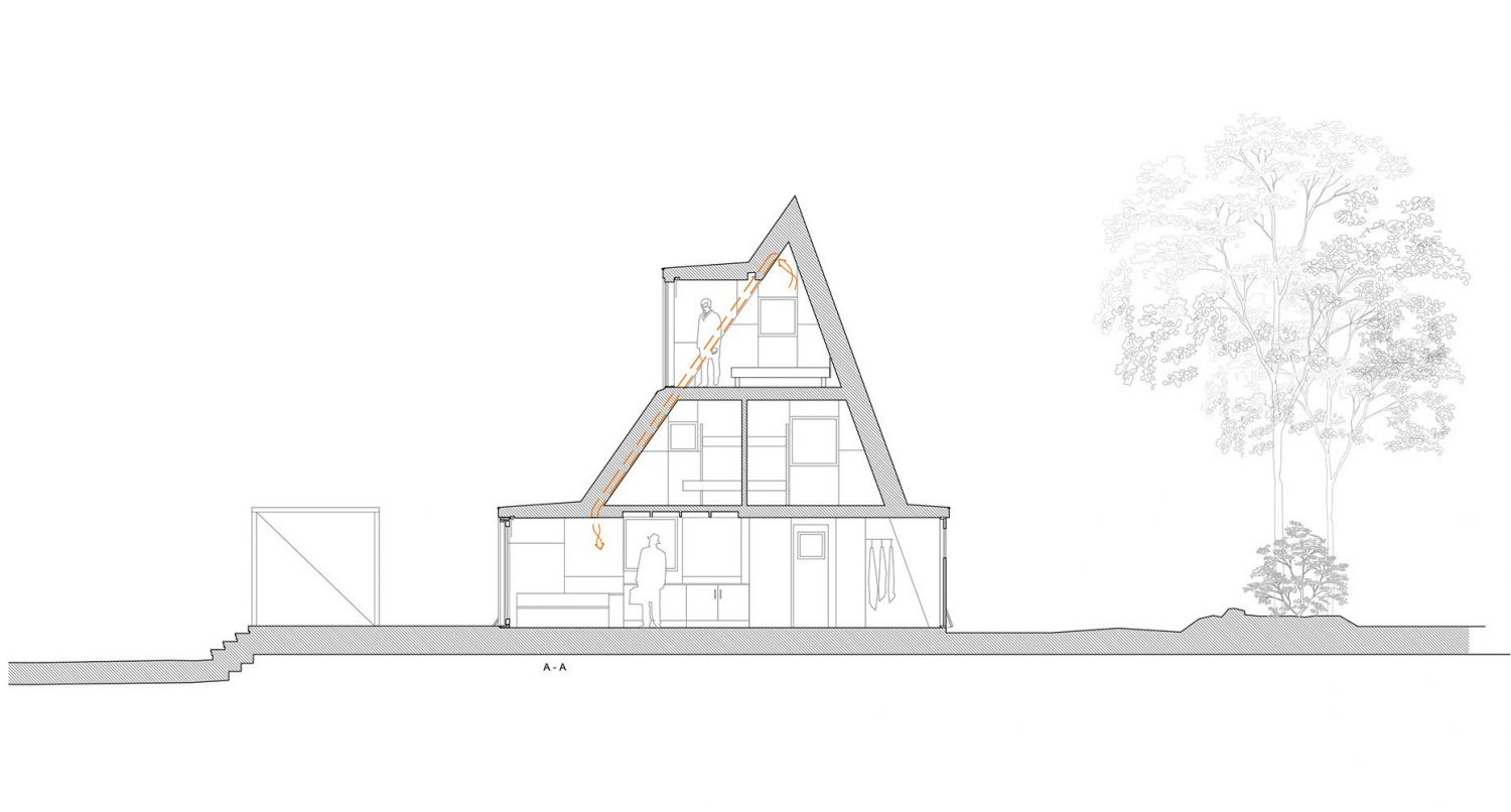 Summer House in Dalarna – Triangular Villa by Leo Qvarsebo