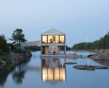 Floating House   Wooden Cabin by MOS Architects