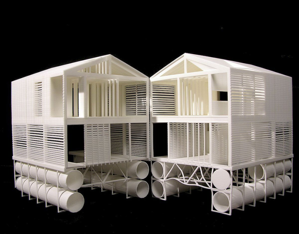 Floating House | Wooden Cabin by MOS Architects