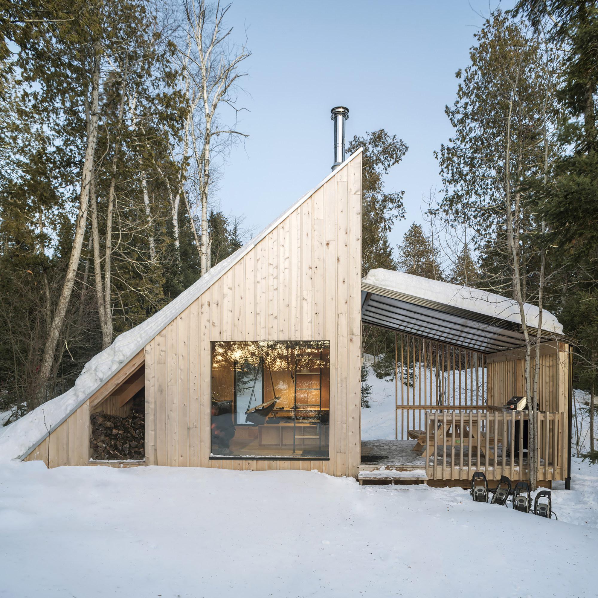 La Pointe   Reinterpretation of an A-Frame Cabin by Atelier L'abri