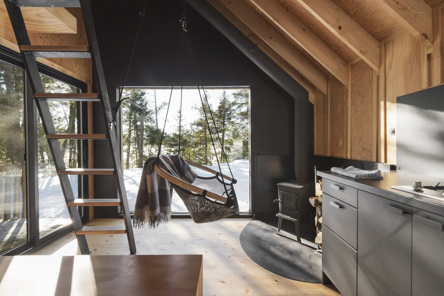 La Pointe | Reinterpretation of an A-Frame Cabin by Atelier L'abri