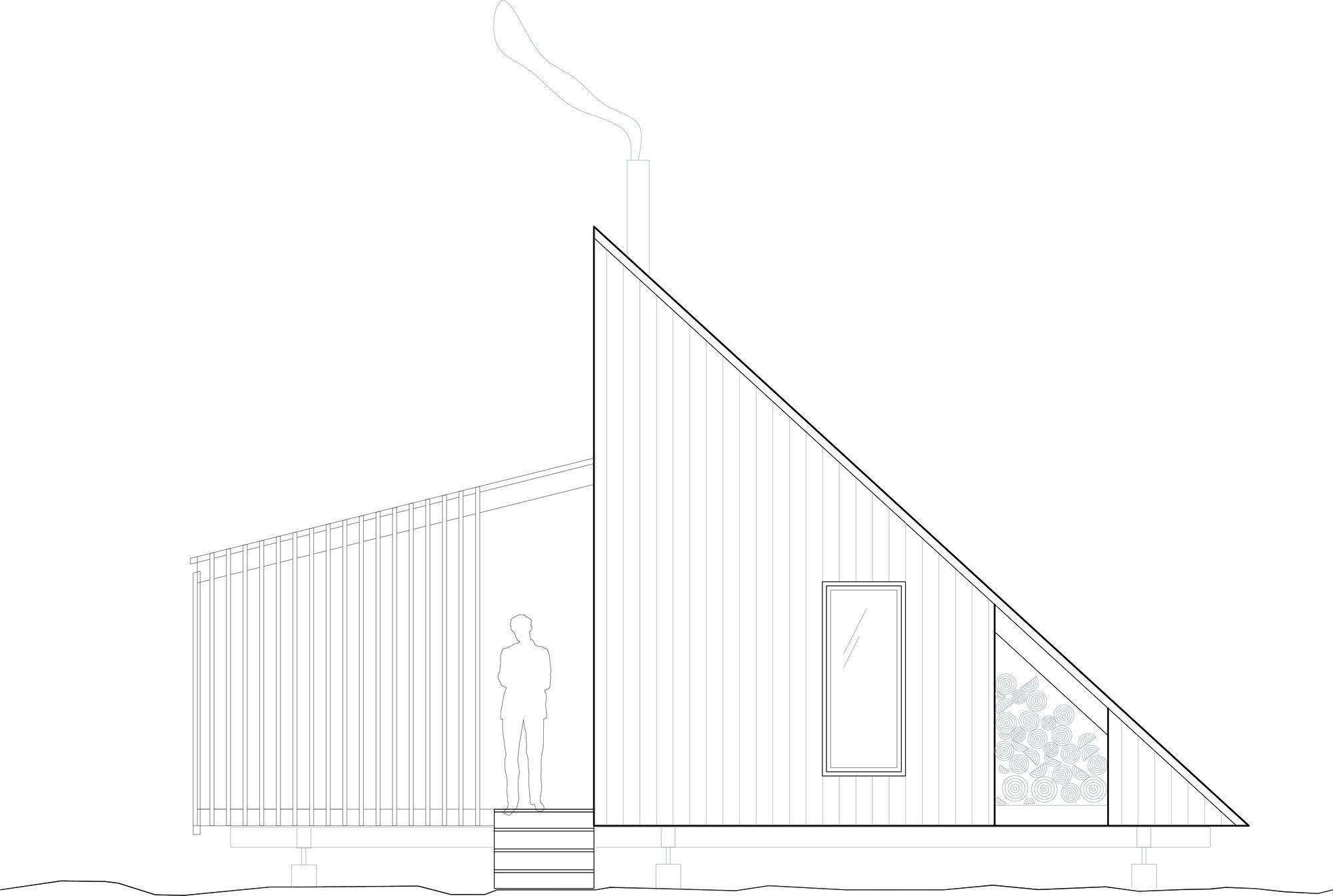 La Pointe | Reinterpretation of an A-Frame Cabin by Atelier L'abri