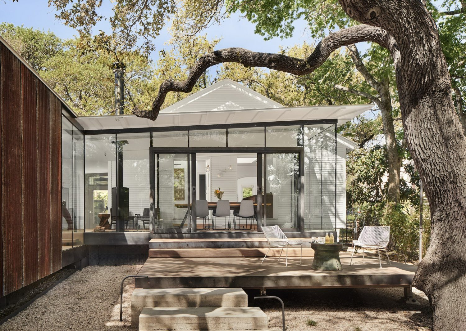 LeanToo – Corrugated Metal Addition to an Austin Cottage