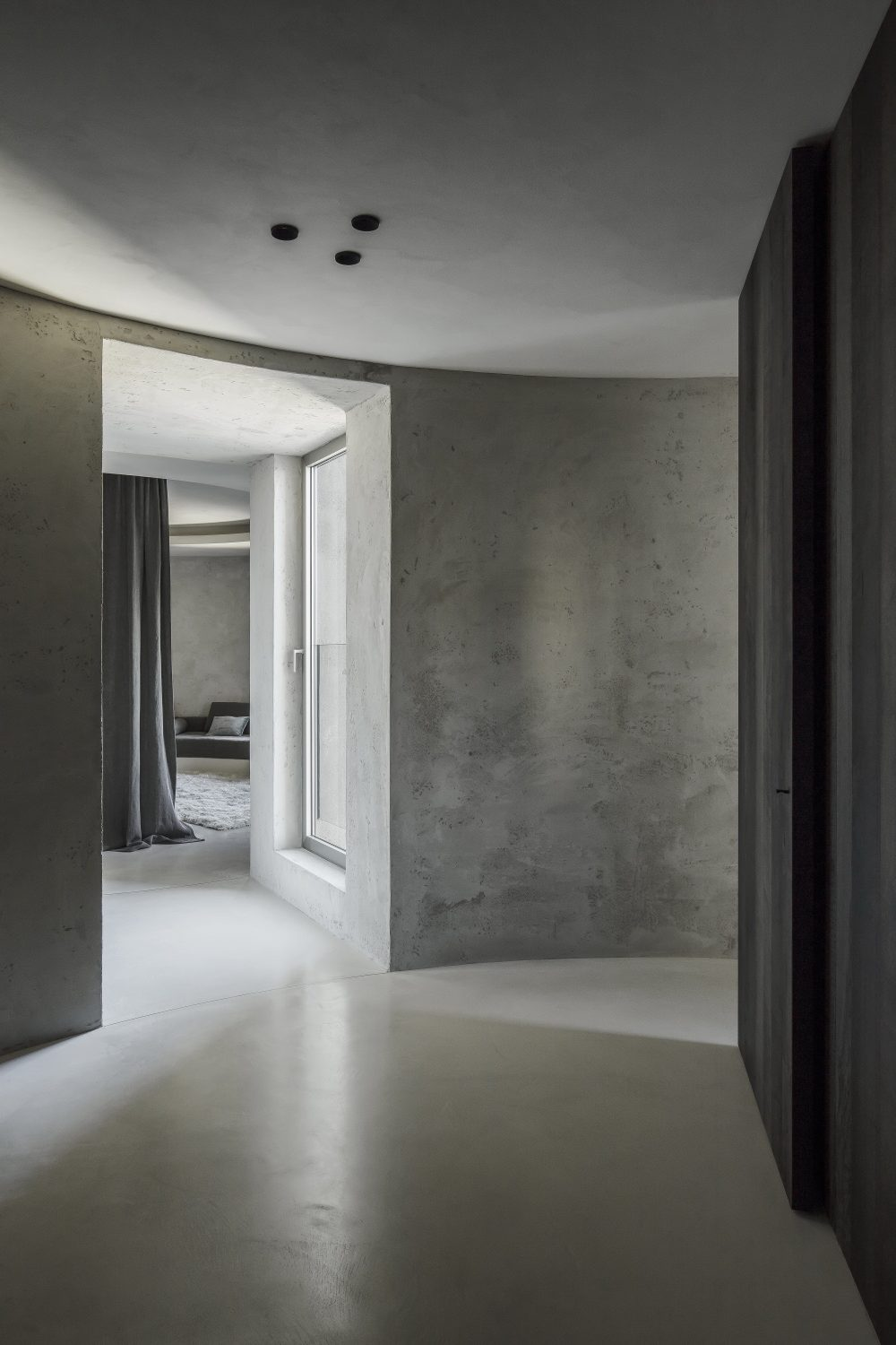 Silo Apartment M-M | Monochrome Apartment by Arjaan De Feyter