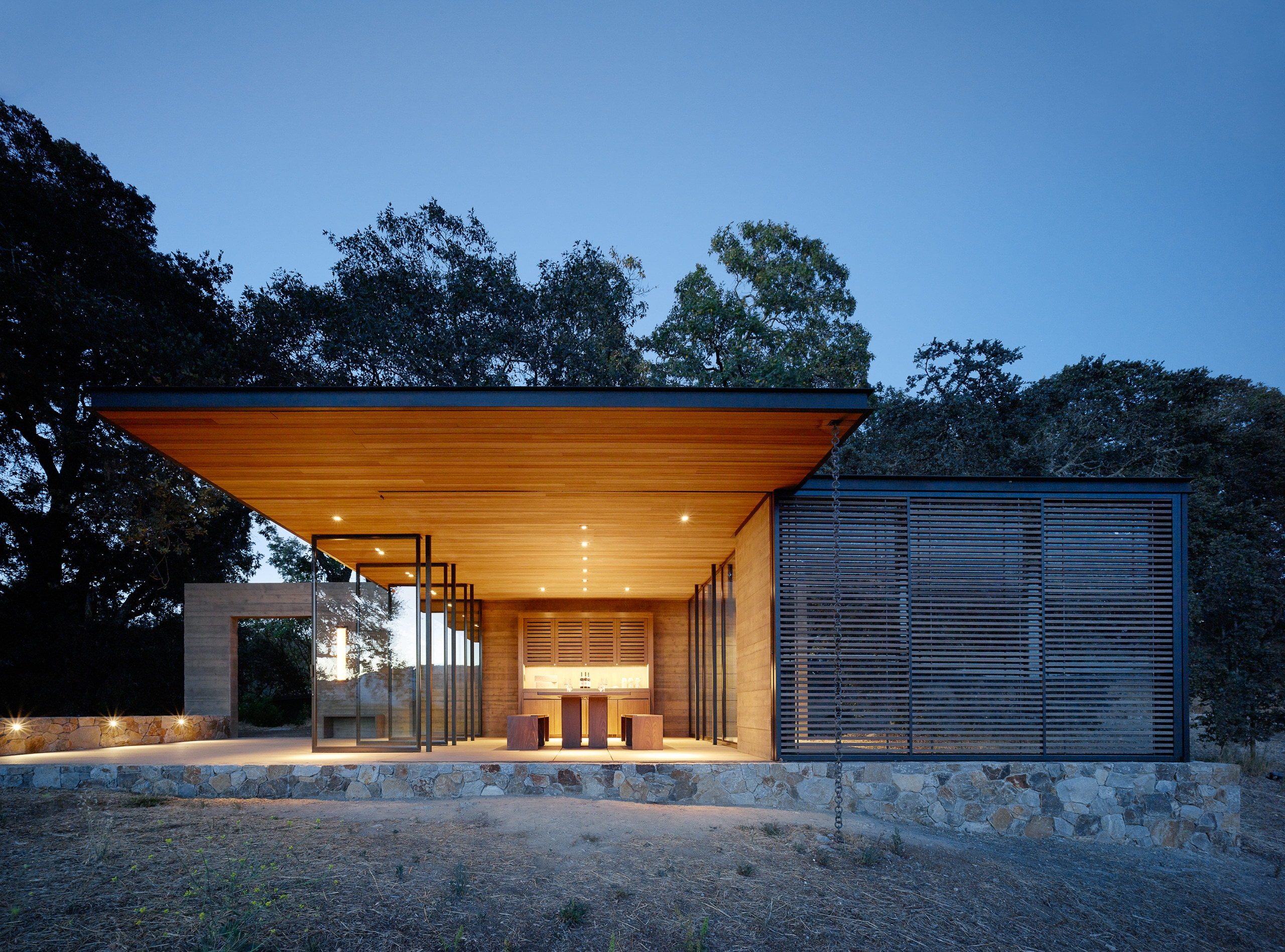 Quintessa Pavilions   Wine-Tasting Pavilions by Walker Warner Architects