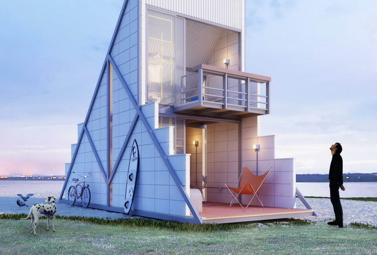 Triangular Micro House by Felipe Campolina