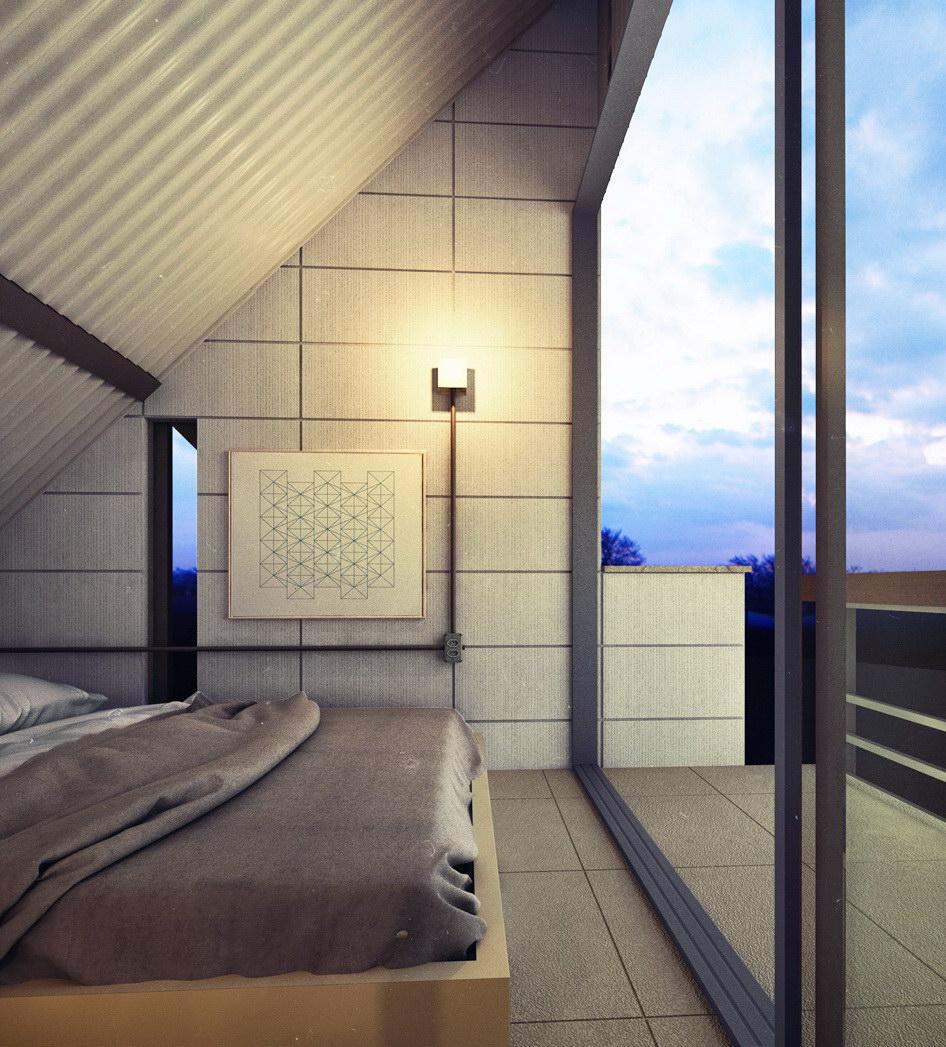 Triangular Micro House by Felipe Campolina