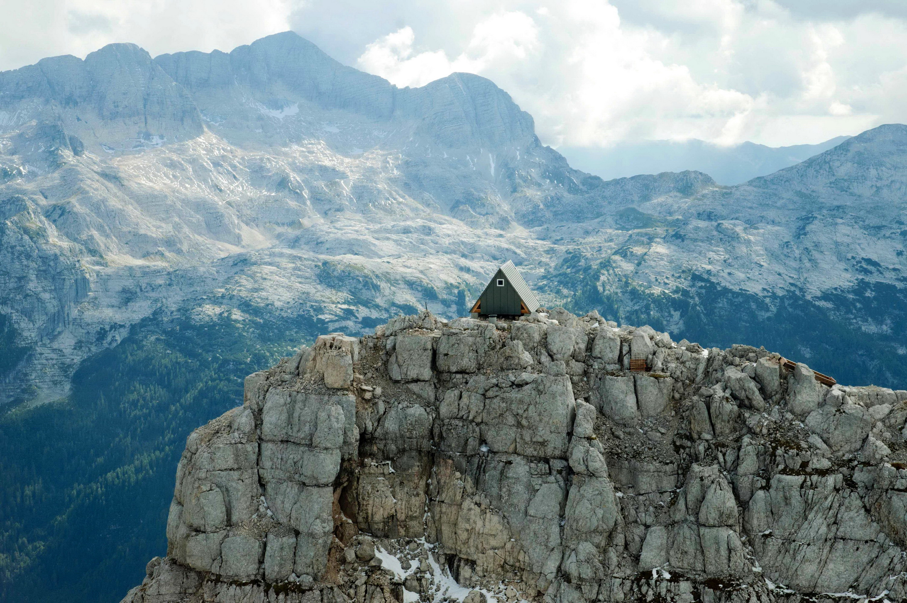 Bivouac Luca Vuerich | A-Frame Shelter by Giovanni Pesamosca Architetto