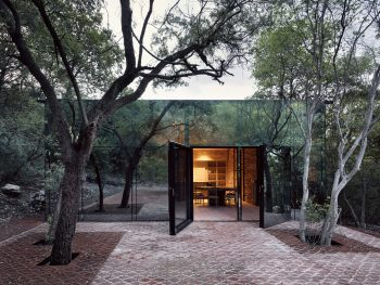 Los Terrenos Mirrored House by Tatiana Bilbao