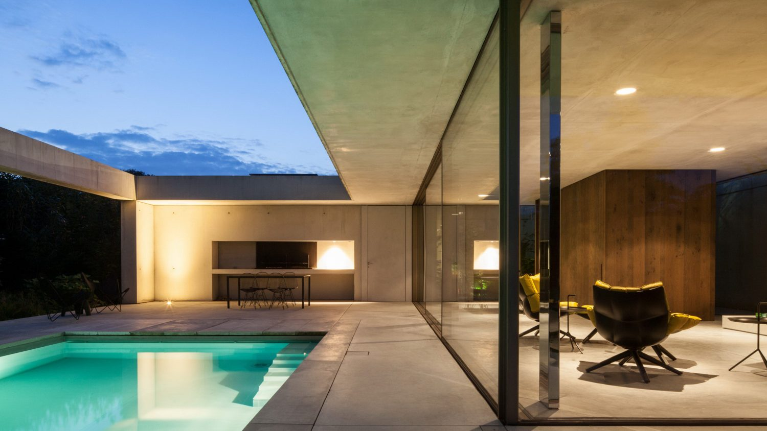 Poolhouse O by Steven Vandenborre Architects