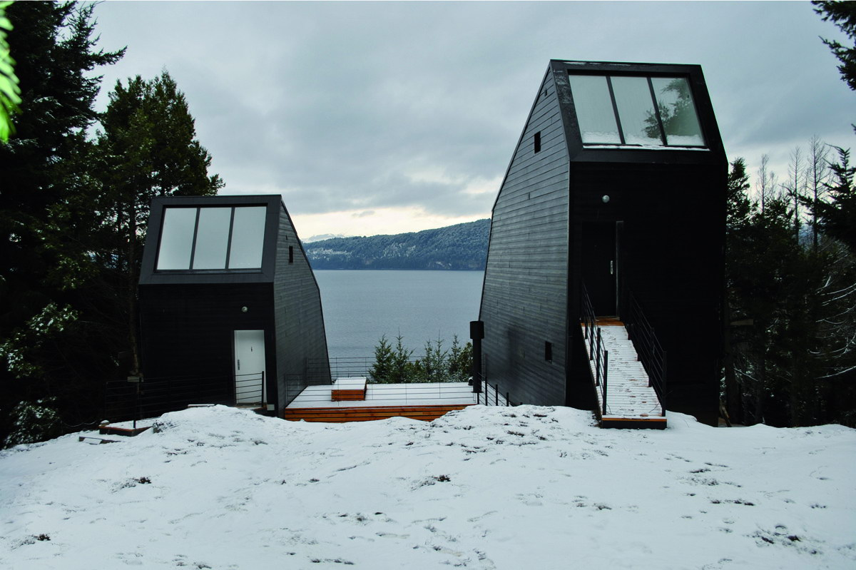 Dachas Black-Clad Cabins by Alric Galindez