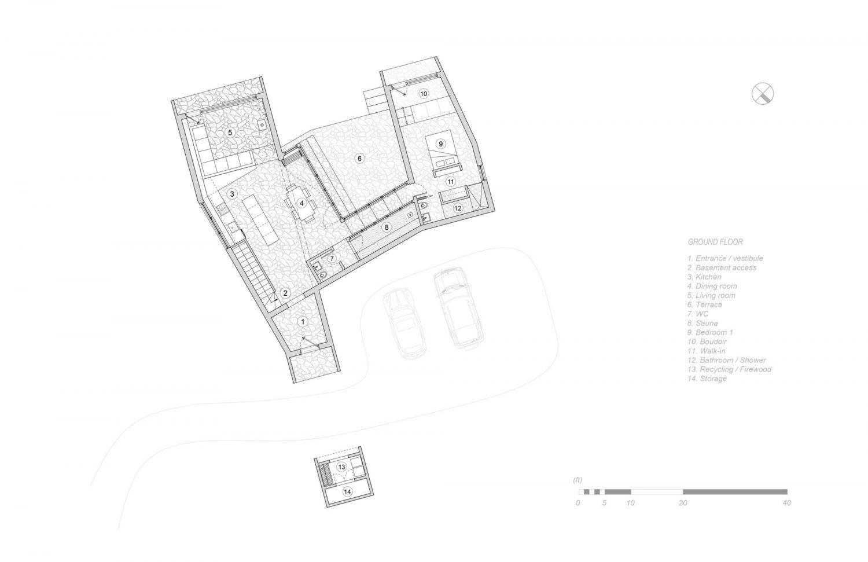 La Charbonnière by Alain Carle Architecte