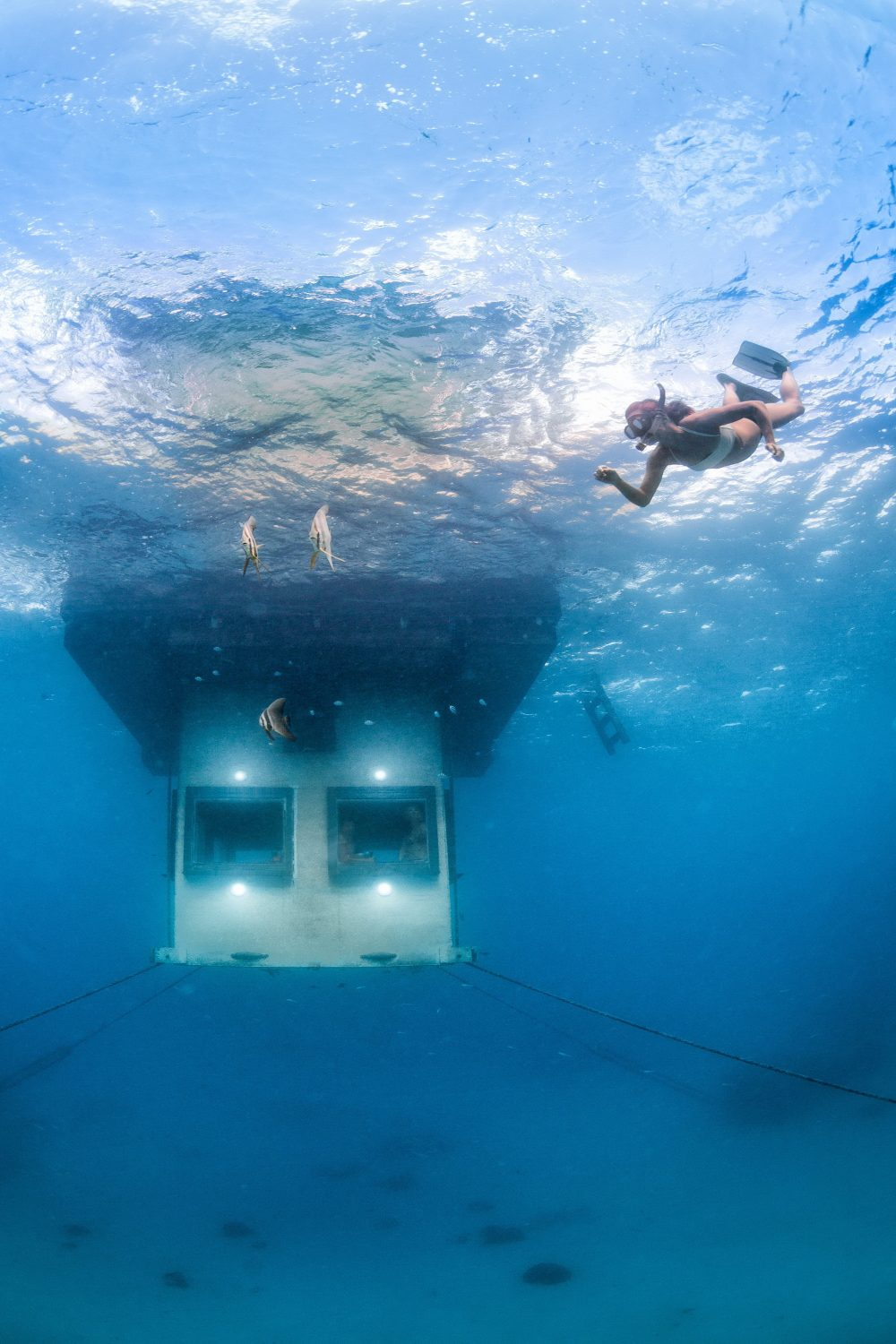 The Manta Underwater Room by Genberg Underwater Hotels