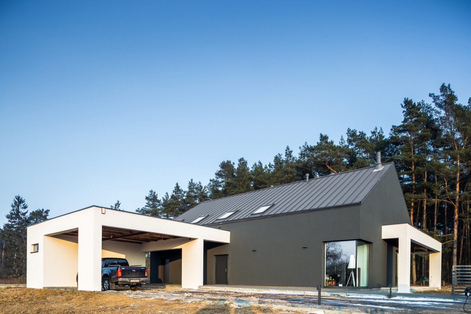 Modern Barn House in Dobra by Anna Thurow