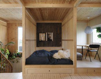 Wood Slat Shotgun House by Austigard Architects