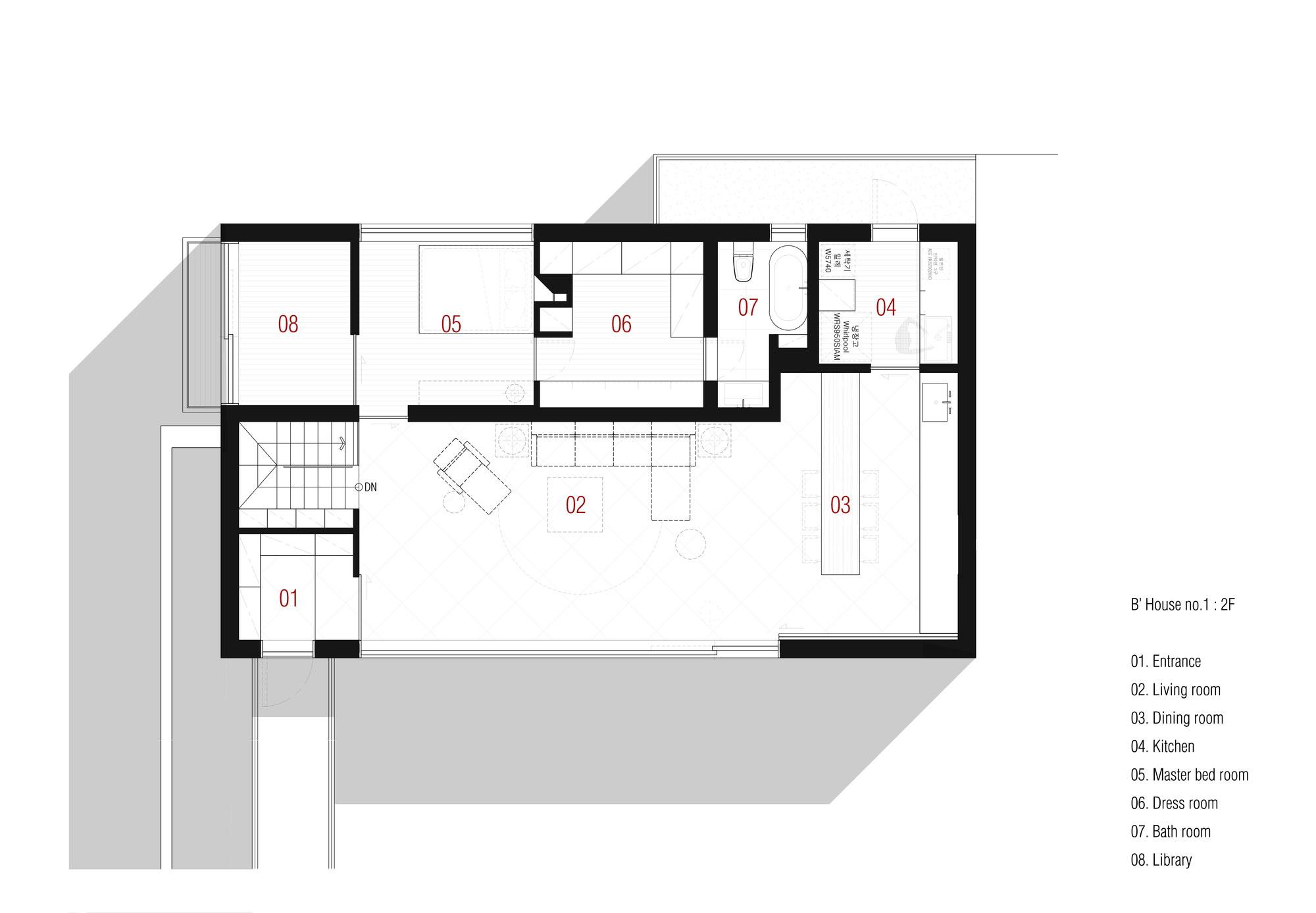B' house by 100 A associates