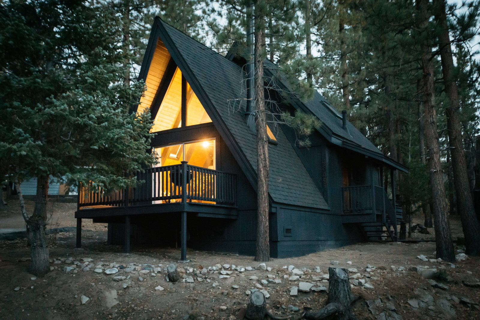 Courtney Poulos' Eclectic A-Frame House