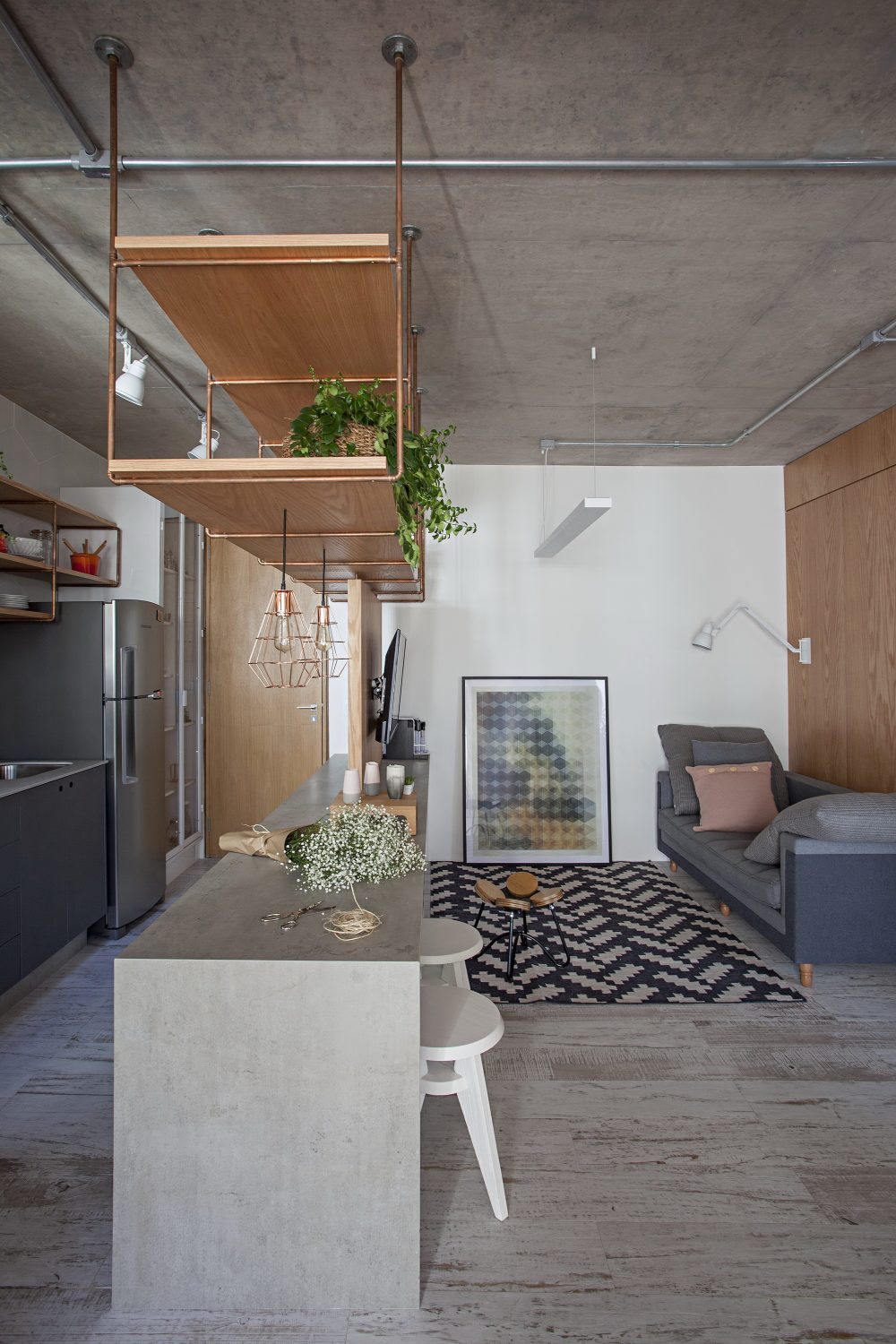 Apartment with Partitions by Casa100 Arquitetura