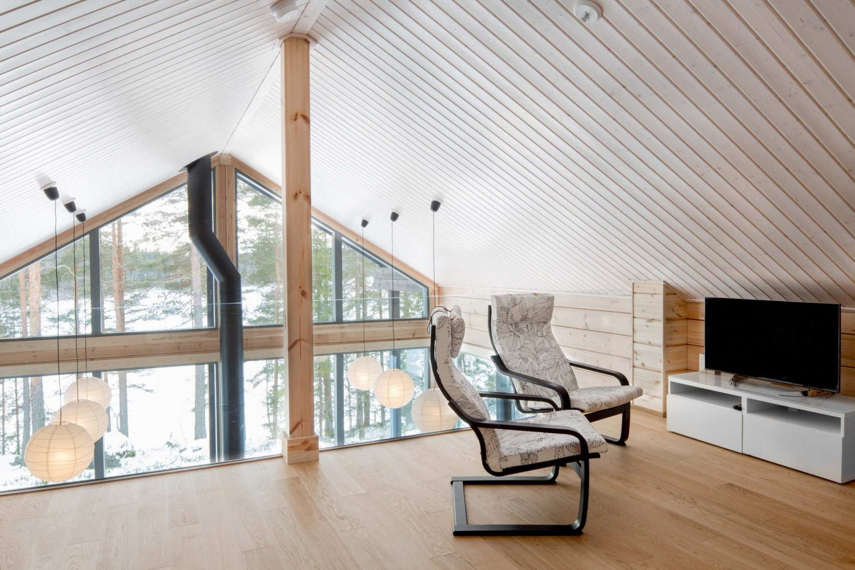 Modern Log Villa in Central Finland by Pluspuu Oy